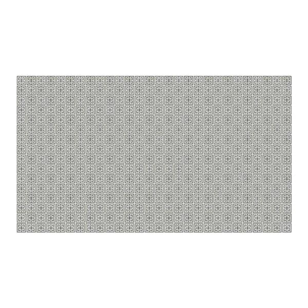 Vinylový koberec Ghazal Silver, 52x280 cm