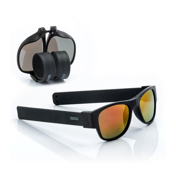 Ochelari de soare pliabili InnovaGoods Sunfold ES2, negru - portocaliu