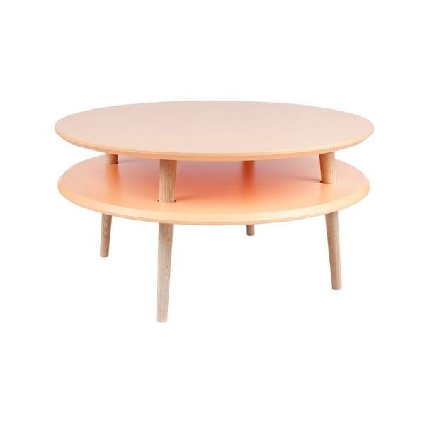 Konferenční stolek UFO 35x70 cm, oranžový