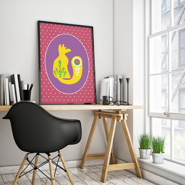 Plakát Lišák žlutý, velký