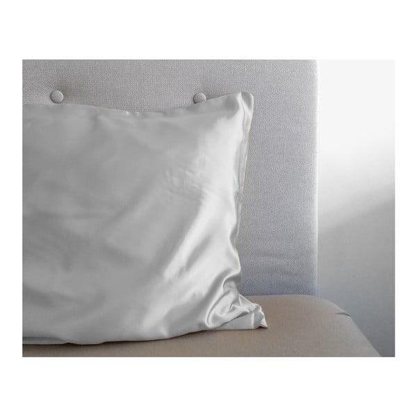 Povlak na polštář z mikroperkálu ve stříbrné barvě Sleeptime Skin Care,60x70cm