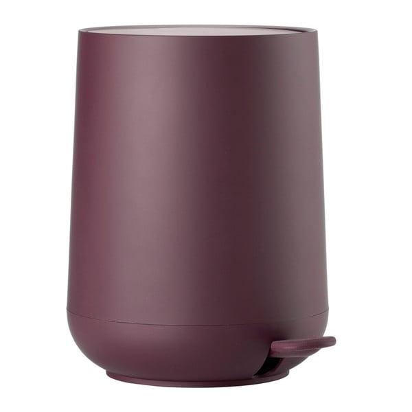 Coș de gunoi cu pedală Zone Nova Shine, 5 l, violet