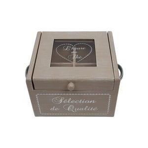 Dřevěná krabice na čaj Selection