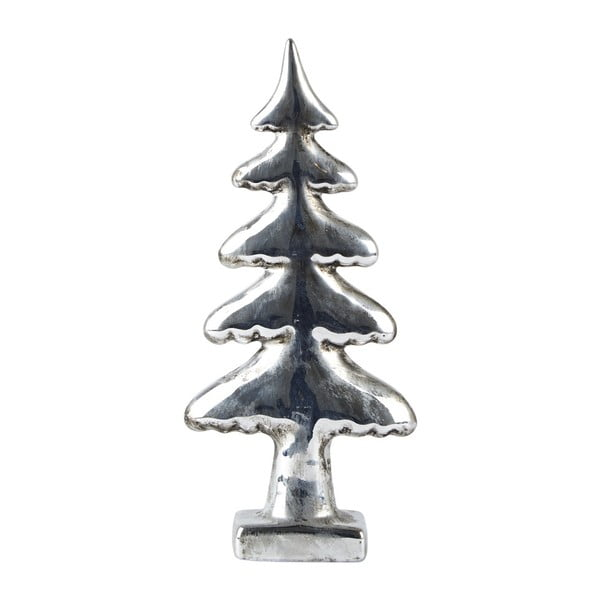 Decorațiune KJ Collection Tree Silver, 22 cm