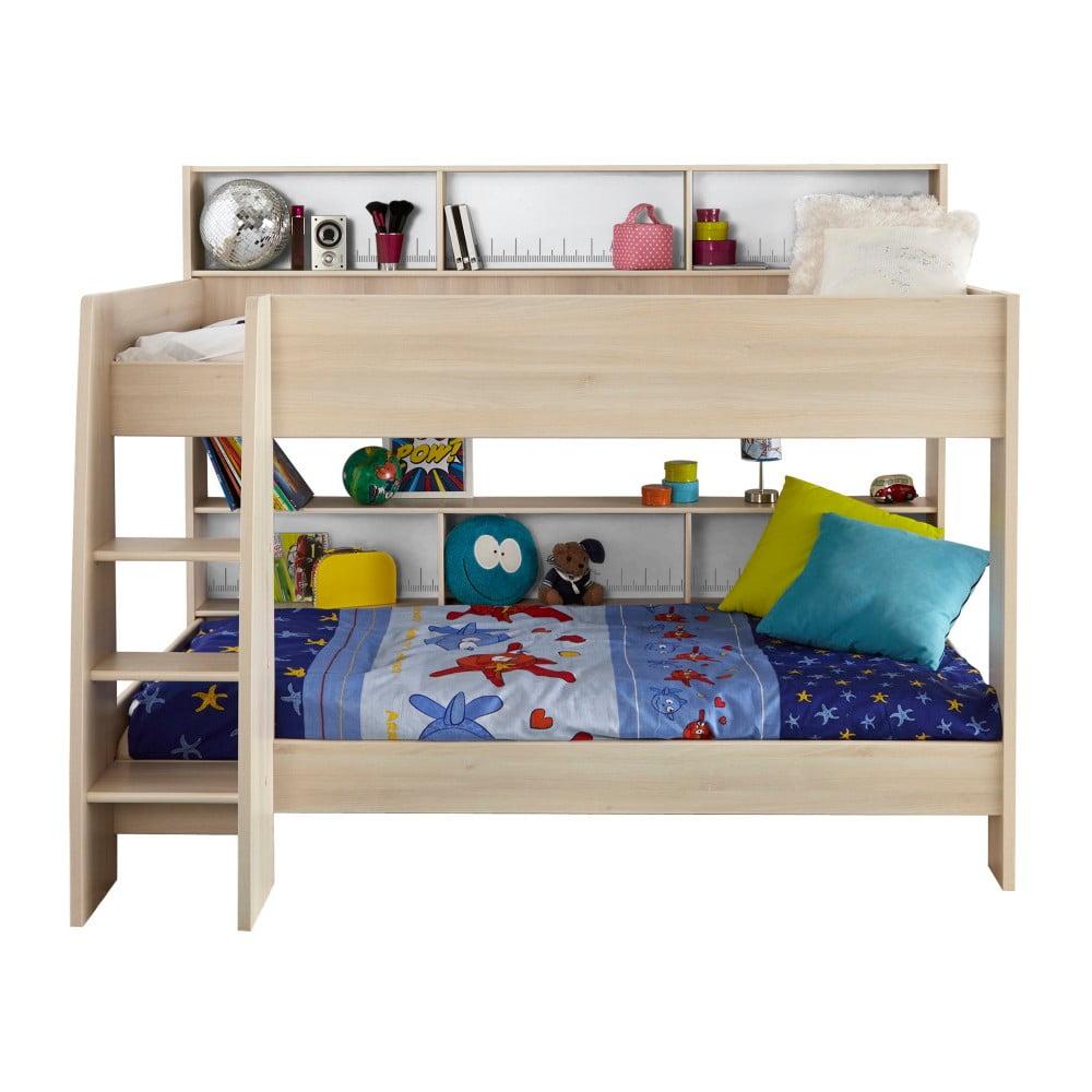 Patrová postel v dekoru akáciového dřeva Parisot Adelise, 90x200cm