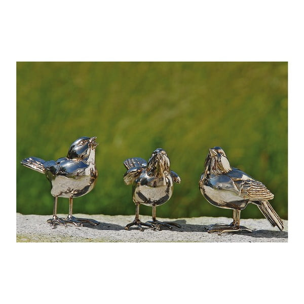 Sada 3 dekorativních ptáčků Birds