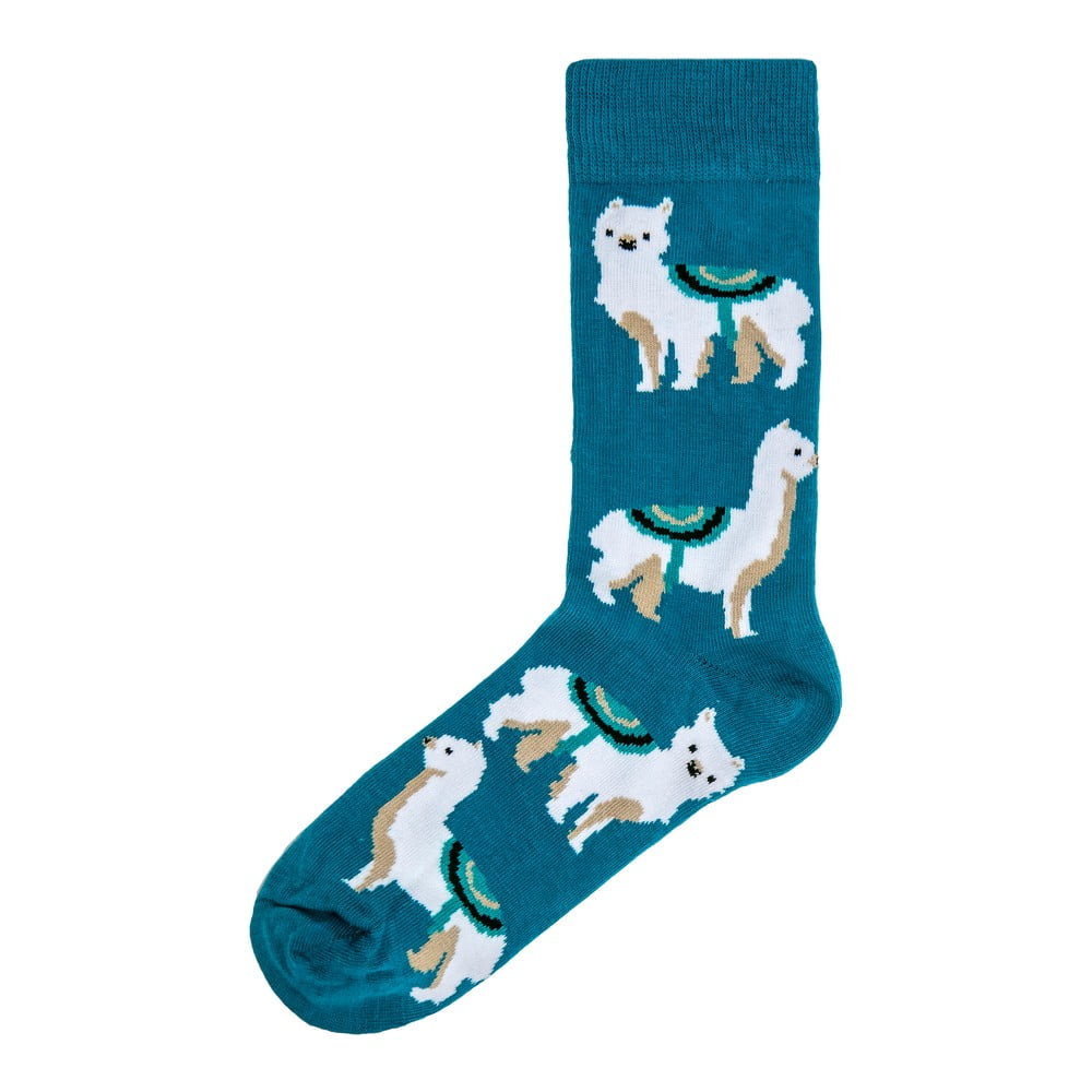 Dámské modré ponožky Funky Steps Lama, velikost 35 - 39