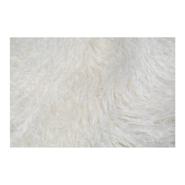 Bílá kožešina Pipsa Mongolian, 150x100 cm