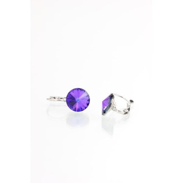Fialové náušnice s krystaly Swarovski® Yasmine Longie