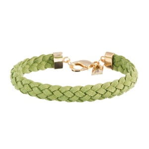 Náramek Strand braided gold, grass green