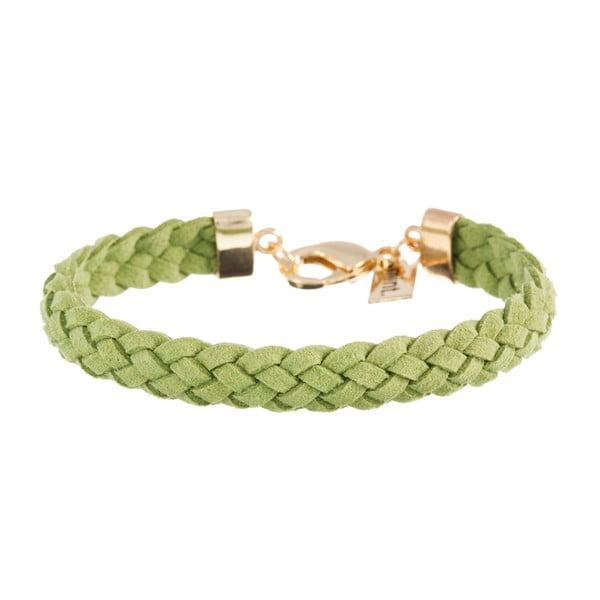 Náramek Strand braided gold, grass green