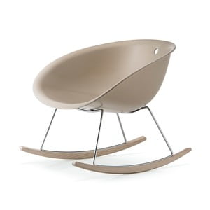 Béžová houpací židle Pedrali Gliss