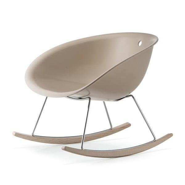Bílá houpací židle Pedrali Gliss 350