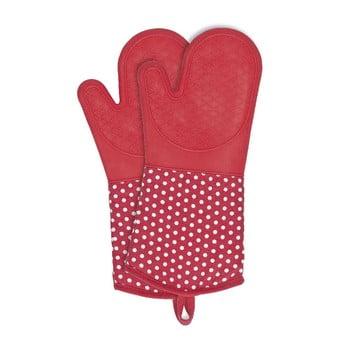 Set 2 mănuși din silicon Wenko Oven Red, roșu imagine