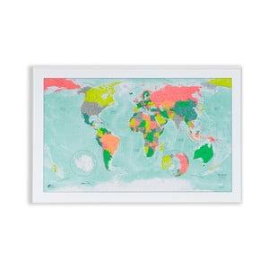 Magnetická mapa světa The Future Mapping Company Winkel Tripel, 100 x 65 cm