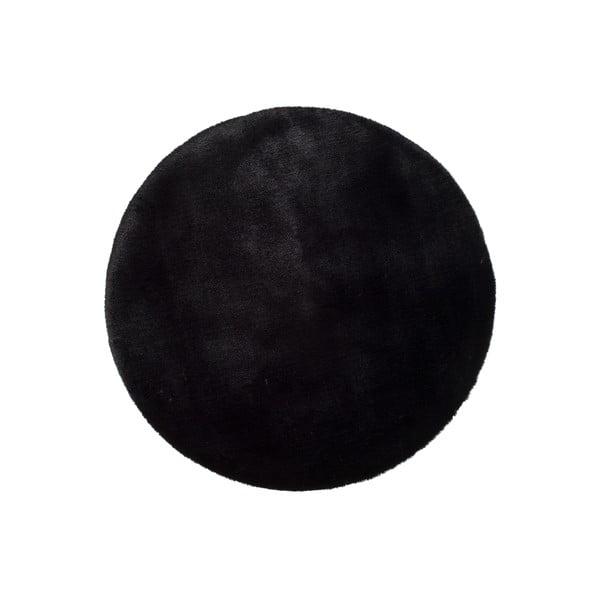 Černý koberec Universal Fox Liso, Ø 120 cm