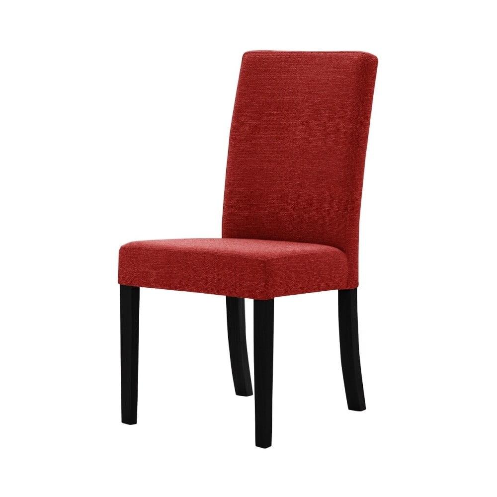 Červená židle s černými nohami Ted Lapidus Maison Tonka
