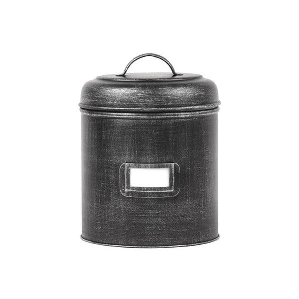 Czarny pojemnik metalowy LABEL51, ⌀10cm