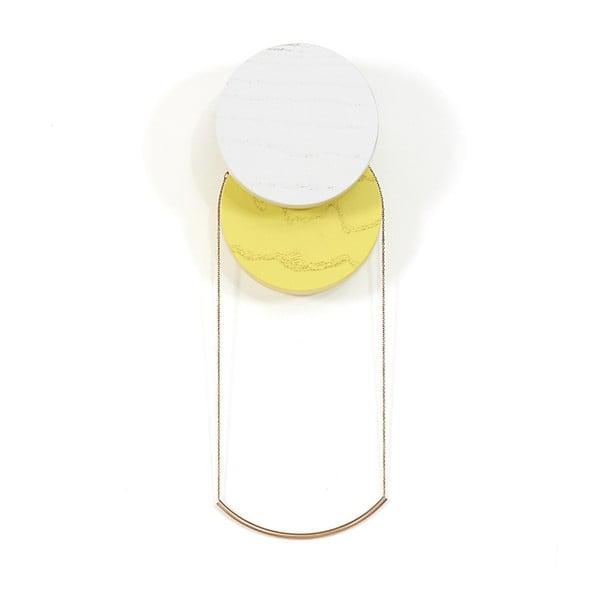 Sivo-žltý nástenný háčik HARTÔ Lou