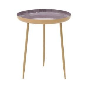 Fialový kovový odkládací stolek InArt Simplo,⌀46cm