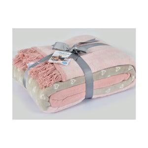 Bavlněná deka Armada Candy Pembe, 220x180cm