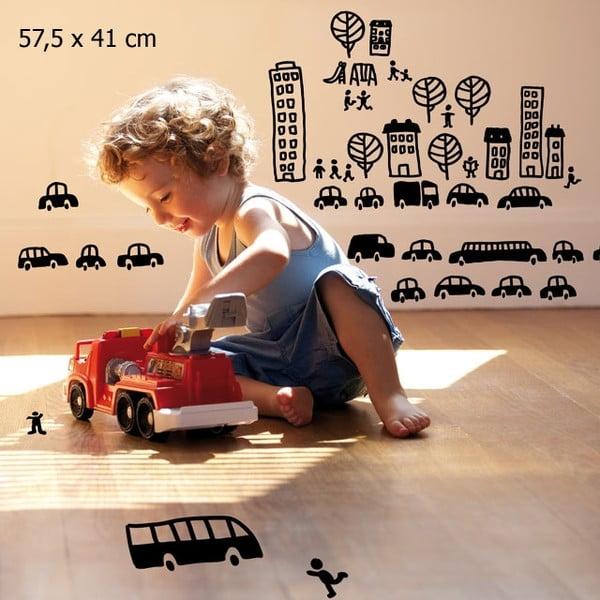 Samolepka Mini cars 57,5x41 cm