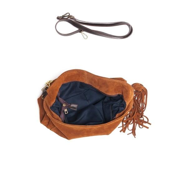 Kožená kabelka Mangotti 8004 Cognac