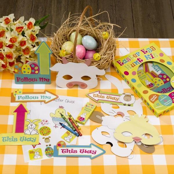 Papírová velikonoční hra pro děti Neviti Easter Craft Egg Hunt Kit