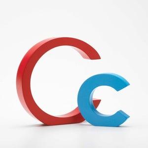 """Velké """"C"""" 13x13 cm, červená"""