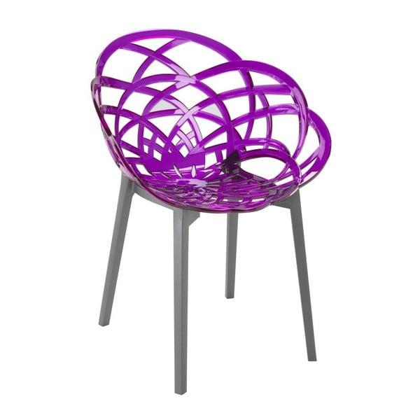 Židle Flora antracit/violet