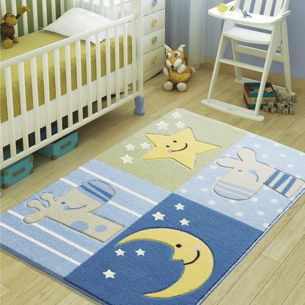 Confetti Sleepy kék gyerekszőnyeg, 100 x 150 cm