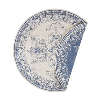 Covor adecvat pentru exterior Bougari Borbon, ø 140 cm, albastru-crem imagine