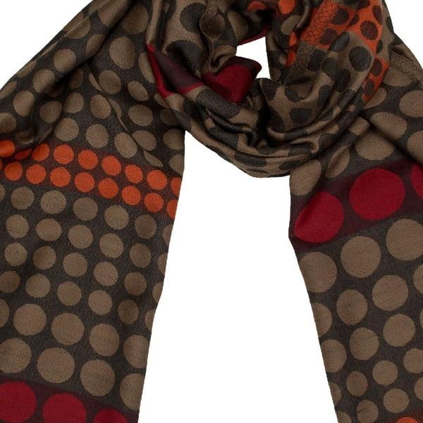 Vlněný šátek Shirin Sehan Lenja Camel