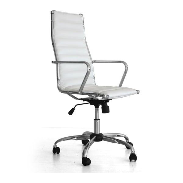Pracovní židle na kolečkách Presid, bílá