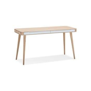 Birou din lemn de stejar Gazzda Ena, 140 x 60 x 75 cm imagine