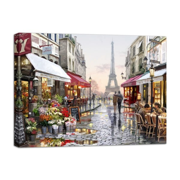 Canvas Watercolor Paris I fali kép, 85 x 113 cm - Styler