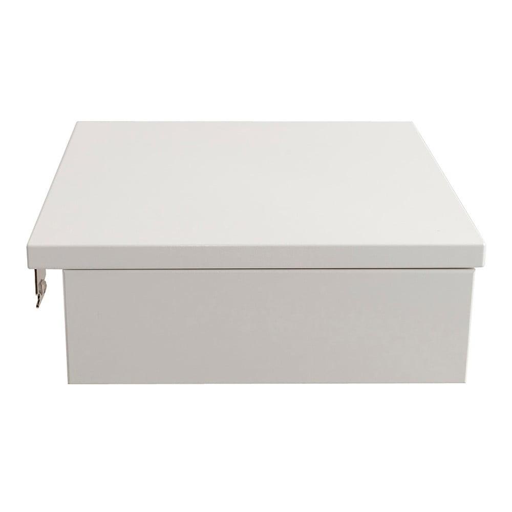 Bílý ručně vyráběný noční stolek z masivního březového dřeva Kiteen Koli