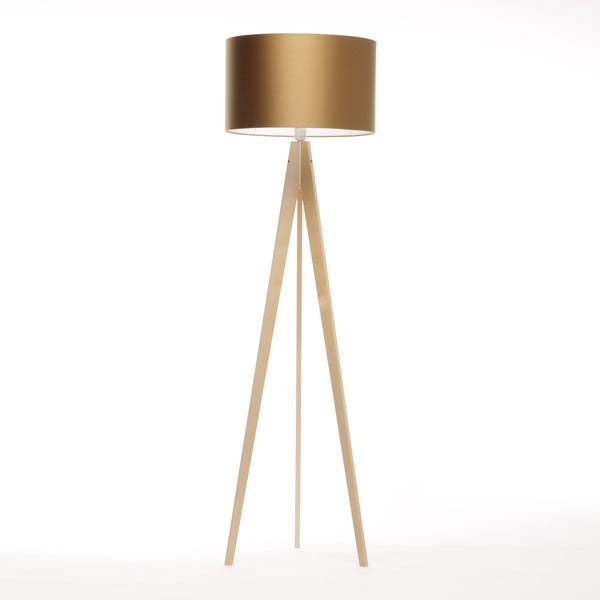 Stojací lampa Artista Birch/Golden, 125x42 cm