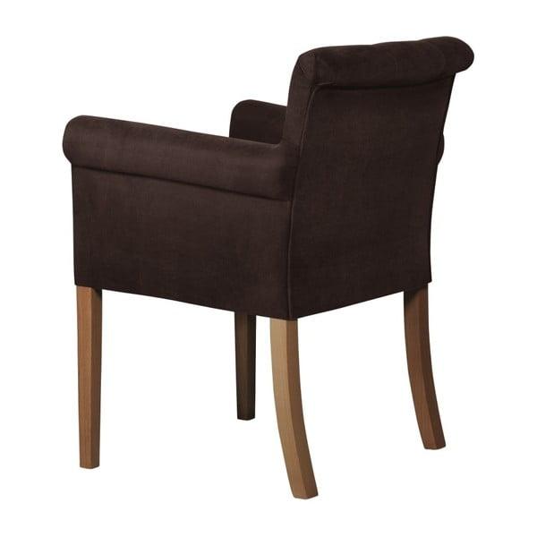 Hnědá židle s tmavě hnědými nohami z bukového dřeva Ted Lapidus Maison Flacon