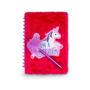 Růžový kroužkový zápisník Tri-Coastal Design Unicorn