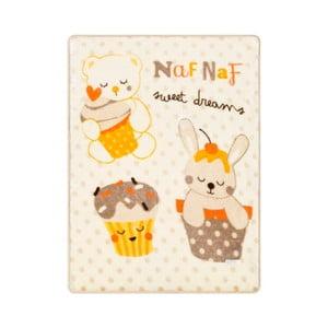 Dětská deka s béžovými detaily Naf Naf Sweet Dreams, 80x110cm