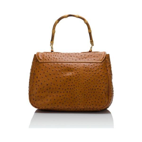 Kožená kabelka Markese 7022 Cognac