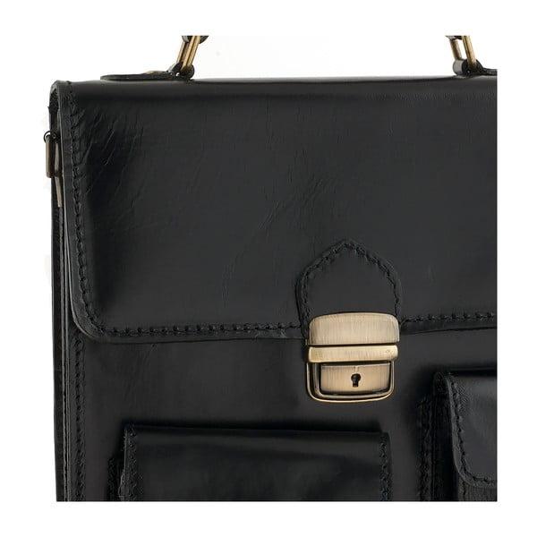 Kožená taška Ore Diece Urbino, černá