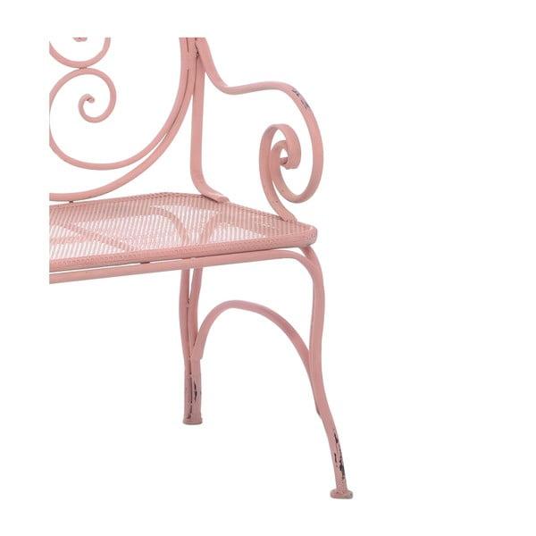 Kovová lavice Curl Pink