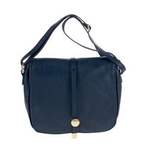 Tmavě modrá kožená kabelka Tina Panicucci Turo