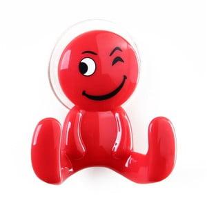 Červený háček ve tvaru panáčka Unimasa Happy