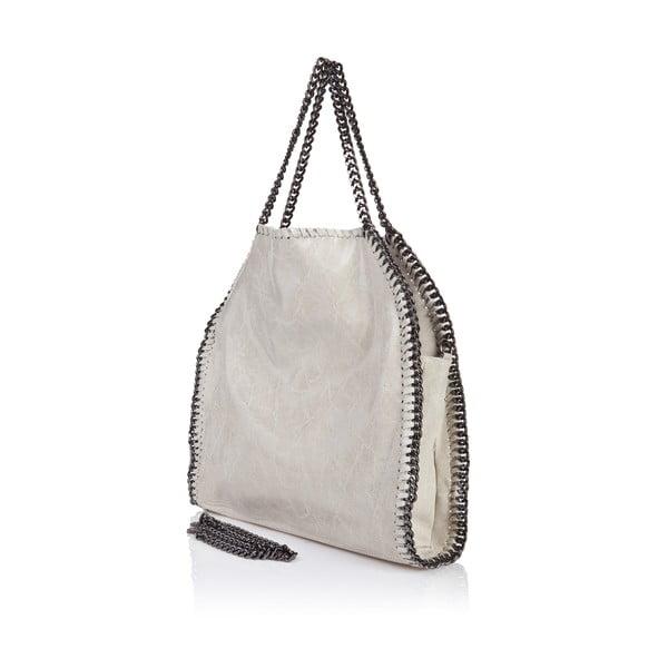 Kožená kabelka Rhona, béžová