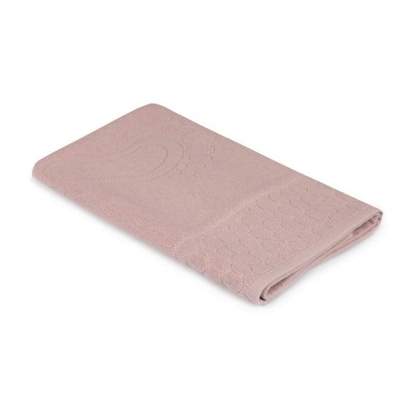 Koupelnová předložka v růžové barvě odstínu dusty rose Pastela, 70x 50cm