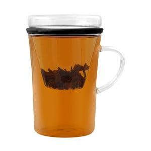 Skleněný hrnek se stíkem na čaj Vialli Design Fuser, 300ml