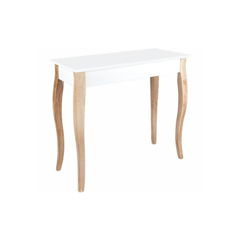 Bílý toaletní stolek se zrcadlem Ragaba Dressing Table, délka 85 cm